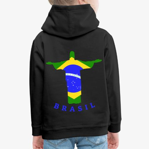 Brasil Flag Statue - Kinder Premium Hoodie