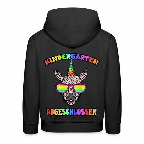 Einhorn Kindergarten Regenbogen Kinder Shirt - Kinder Premium Hoodie