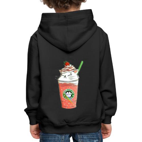 Catpuccino White - Kids' Premium Hoodie