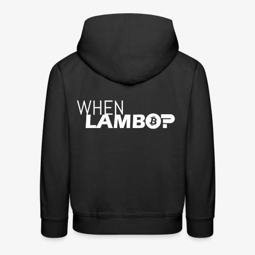 HODL-when lambo-w - Kids' Premium Hoodie