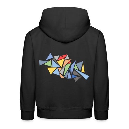 Modern Triangles - Kids' Premium Hoodie