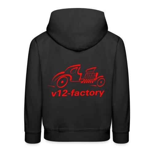 v12 factory Logo - Kinder Premium Hoodie
