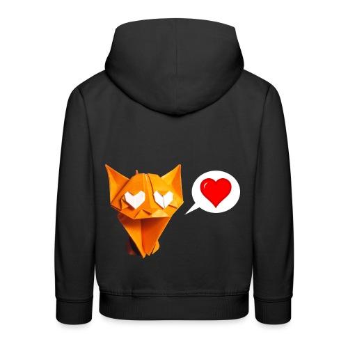 Adorable Cat Origami - Cat - Gato - Gatto - Katze - Kids' Premium Hoodie
