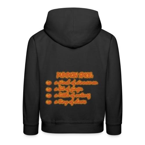 PumpkinSpiceRecipe - Felpa con cappuccio Premium per bambini