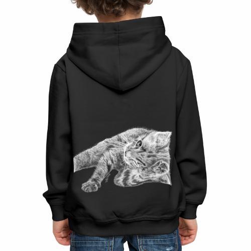 Petit chaton au crayon gris - Pull à capuche Premium Enfant