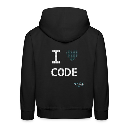 I <3 code - Pull à capuche Premium Enfant