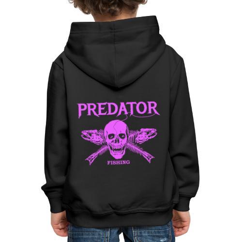 Predator fishing pink - Kinder Premium Hoodie