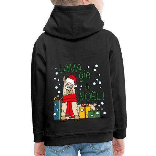 Lama, Magie de Noël, Happy Christmas, Pull moche - Pull à capuche Premium Enfant