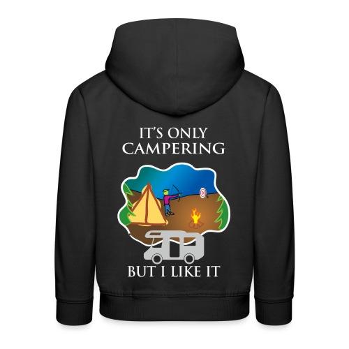 To tylko campering, ale to lubię - Bluza dziecięca z kapturem Premium