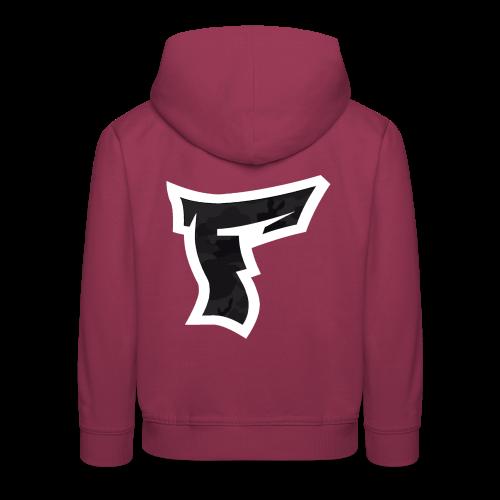 Tarnmuster mit F Logo in Weiß - Kinder Premium Hoodie