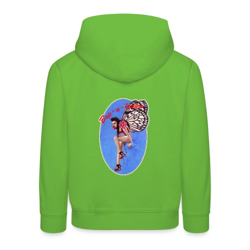 Vintage Rockabilly Butterfly Pin-up Design - Kids' Premium Hoodie