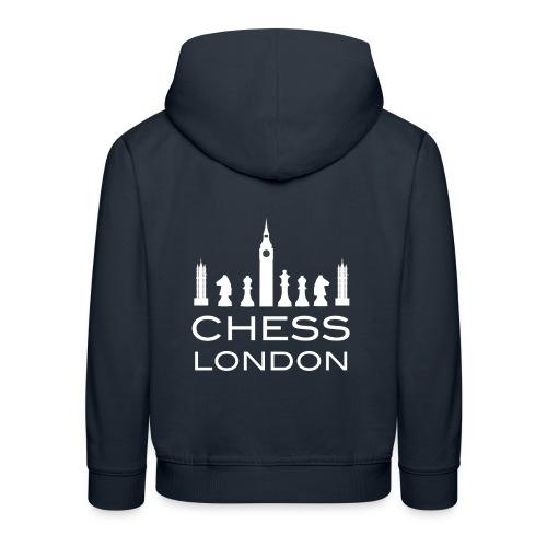 Schach London Weltmeister Schachfigur Geschenk - Kinder Premium Hoodie