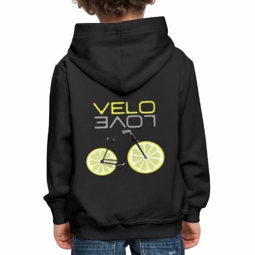 Lemon Bike Shirt Velo Love Shirt Radfahrer Shirt - Kinder Premium Hoodie