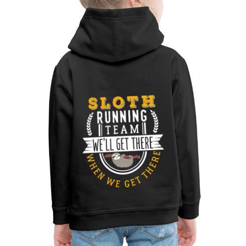 Sloth Running Team - Kinder Premium Hoodie