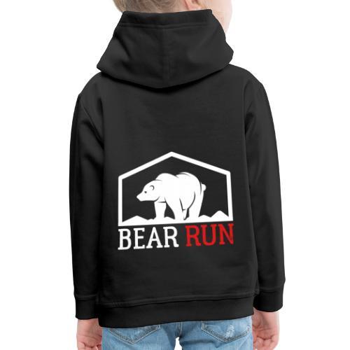 Bear Run Funny Black bear Running - Kinder Premium Hoodie