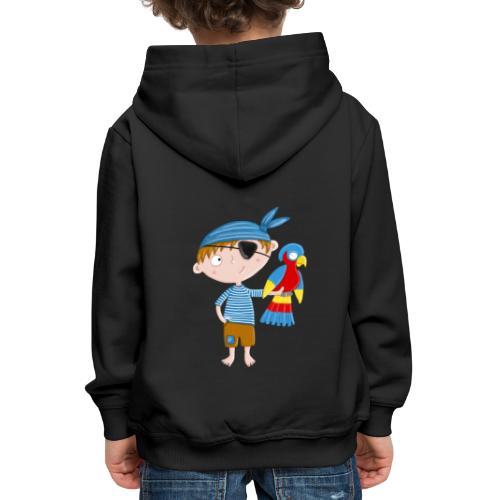 Kleiner Pirat mit Papagei - Kinder Premium Hoodie