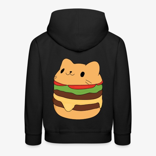 cat burger - Kids' Premium Hoodie