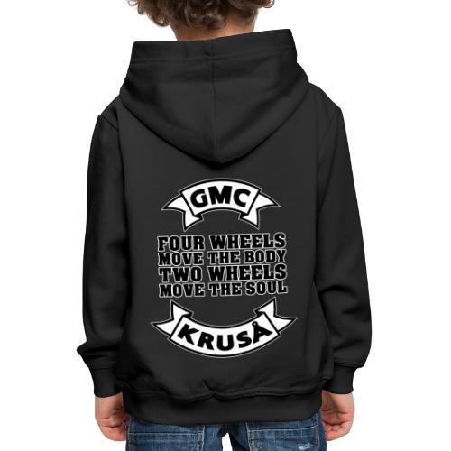 GMC FOUR WHEELS - Premium hættetrøje til børn