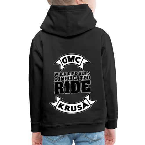 GMC, NÅR LIVE FÅR KOMPLICERET - Premium hættetrøje til børn