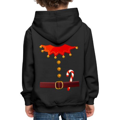 Regalo divertido de disfraz de duende de Santa para los amantes de Navidad - Sudadera con capucha premium niño
