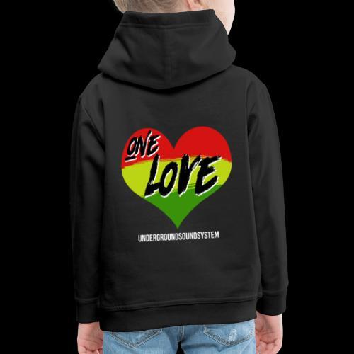 ONE LOVE - HEART - Kinder Premium Hoodie