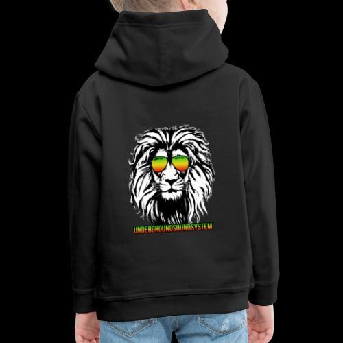 RASTA REGGAE LION - Kinder Premium Hoodie