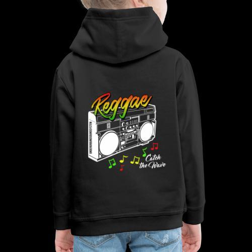 Reggae - Catch the Wave - Kinder Premium Hoodie