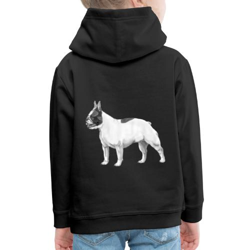 French Bulldog - Premium hættetrøje til børn