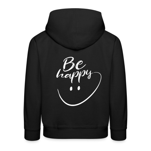 Be Happy With Hand Drawn Smile - Kids' Premium Hoodie