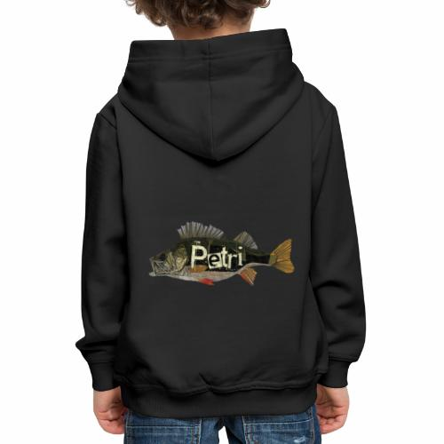 Poly Barsch Petri Angeln Fishing Fishyworm - Kinder Premium Hoodie
