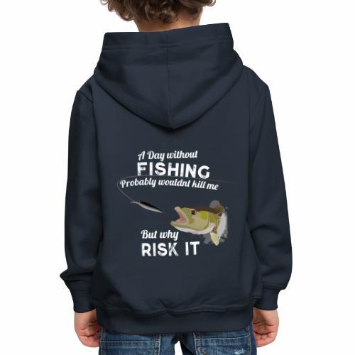 Zanderattacke Fishyworm Angel Fisch Zander A Day - Kinder Premium Hoodie
