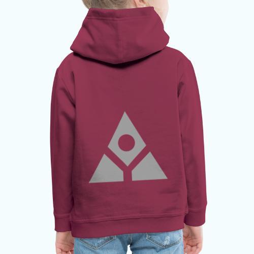 Sacred geometry gray pyramid circle in balance - Kids' Premium Hoodie