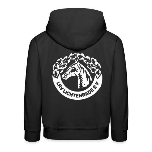 horse_logo_white_big - Kinder Premium Hoodie
