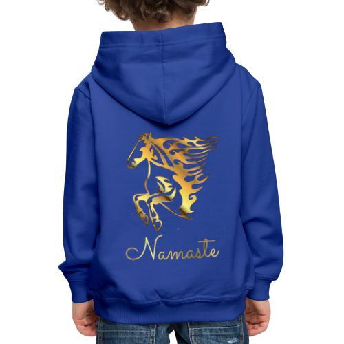 Namaste Horse On Fire - Kinder Premium Hoodie
