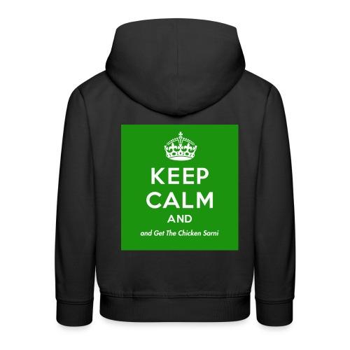 Keep Calm and Get The Chicken Sarni - Green - Kids' Premium Hoodie