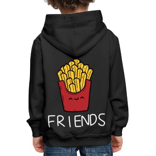 Burger und Pommes Best Friends Partnerlook - Kinder Premium Hoodie