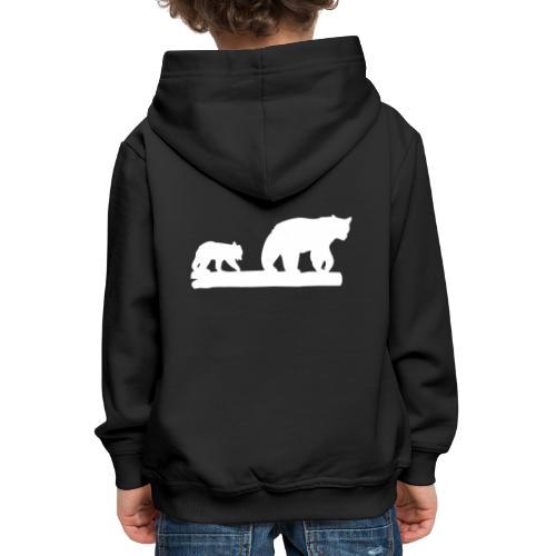 Bär Bären Grizzly Raubtier Wildnis Nordamerika - Kinder Premium Hoodie