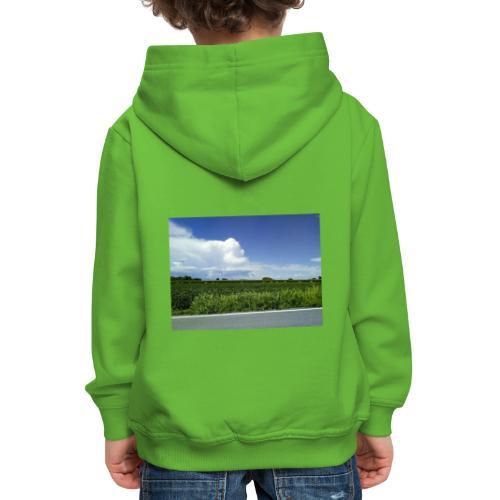 prato verde - Felpa con cappuccio Premium per bambini