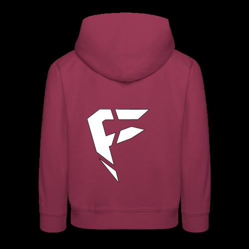 F Logo in Weiß - Kinder Premium Hoodie