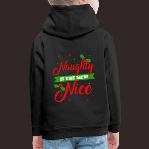 Weihnachten | unartig artig nett - Kinder Premium Hoodie