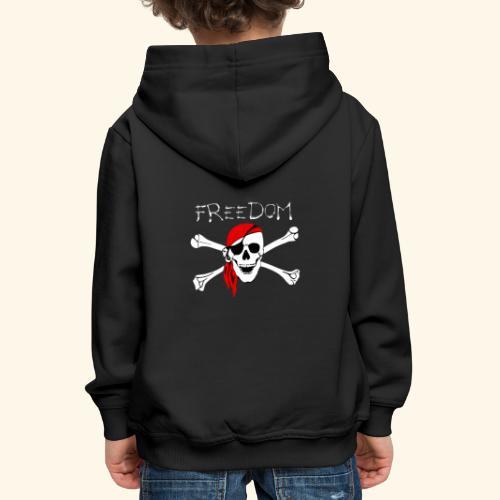 Freiheit Pirat Totenkopf - Kinder Premium Hoodie