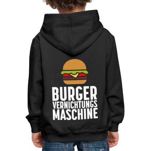 Burger Fanshirt Hamburger Grillen Burgerfreak - Kinder Premium Hoodie