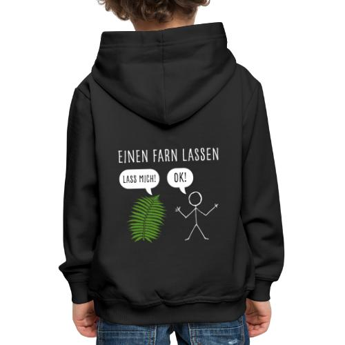 Lustiges Pupsen Furzen Shirt Geschenk witzig - Kinder Premium Hoodie