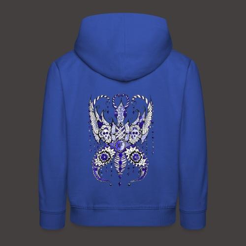Papillon Lilou Bleu - Pull à capuche Premium Enfant