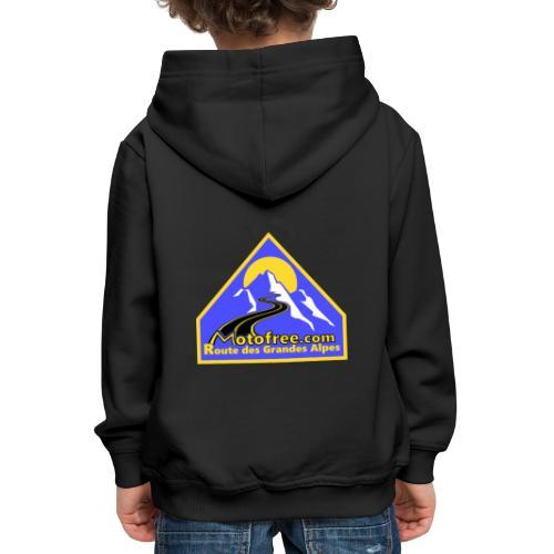 Logo motofree bleu - Pull à capuche Premium Enfant