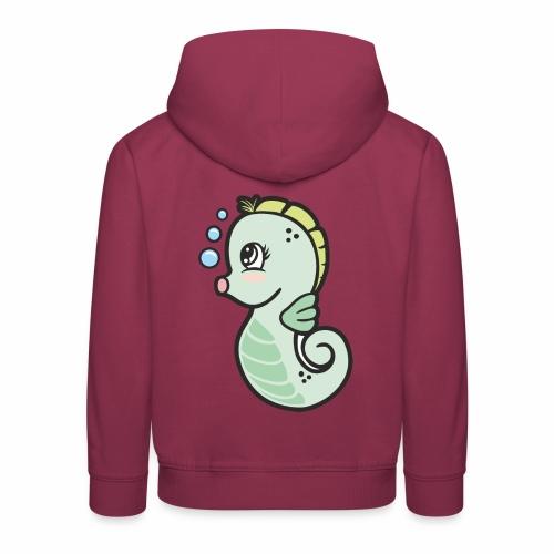 Seepferdchen grün - Kinder Premium Hoodie