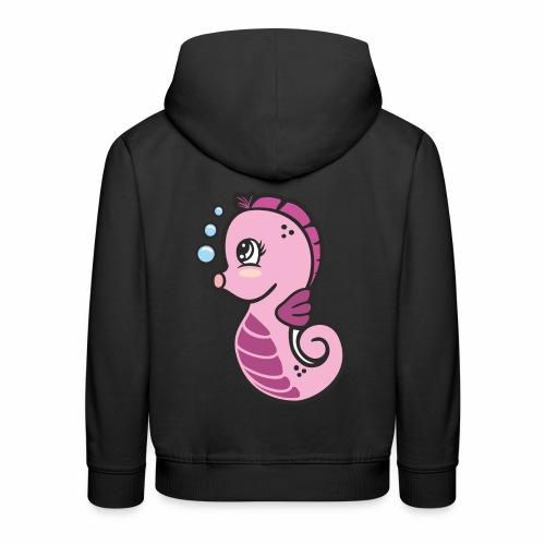 Seepferdchen Mädchen - Kinder Premium Hoodie
