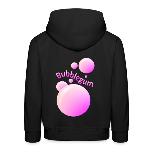 bubblegum glansig text och stora rosa bubblor - Kids' Premium Hoodie