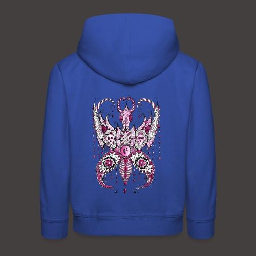 Papillon Lilou Rose - Pull à capuche Premium Enfant