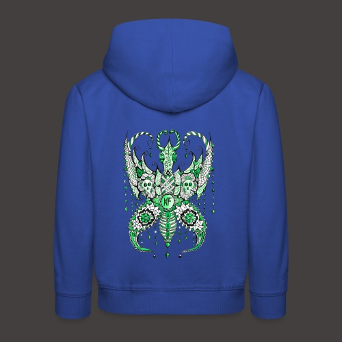 Papillon Lilou Vert - Pull à capuche Premium Enfant